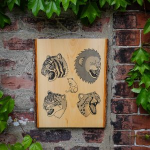 CATS | Screenprinted Wood Slab