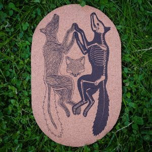 Anatomy of the Fox | Screenprinted Cork Board