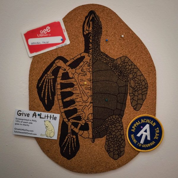 Anatomy of the Turtle | Screenprinted Cork Board