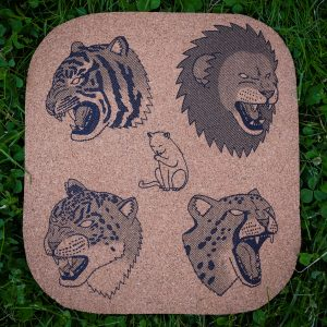 CATS | Screenprinted Cork Board
